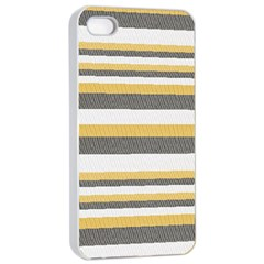 Textile Design Knit Tan White Apple Iphone 4/4s Seamless Case (white)