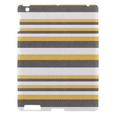 Textile Design Knit Tan White Apple Ipad 3/4 Hardshell Case