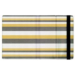 Textile Design Knit Tan White Apple Ipad 3/4 Flip Case