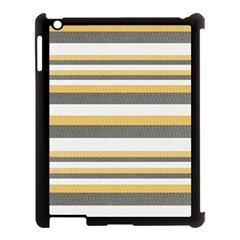 Textile Design Knit Tan White Apple Ipad 3/4 Case (black)
