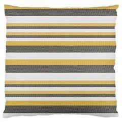 Textile Design Knit Tan White Large Flano Cushion Case (one Side) by Nexatart