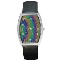 Texture Abstract Background Barrel Style Metal Watch by Nexatart