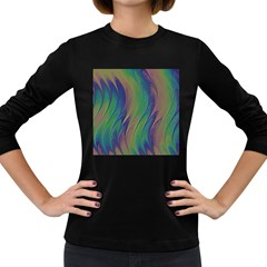 Texture Abstract Background Women s Long Sleeve Dark T Shirts by Nexatart