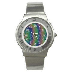 Texture Abstract Background Stainless Steel Watch by Nexatart