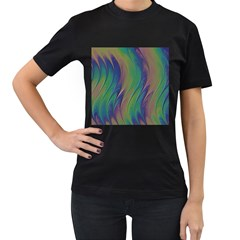 Texture Abstract Background Women s T Shirt (black) by Nexatart