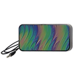 Texture Abstract Background Portable Speaker (black)