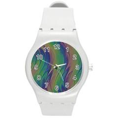 Texture Abstract Background Round Plastic Sport Watch (m) by Nexatart