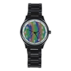 Texture Abstract Background Stainless Steel Round Watch by Nexatart