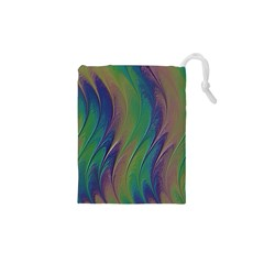 Texture Abstract Background Drawstring Pouches (xs)  by Nexatart
