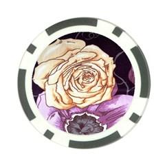 Texture Flower Pattern Fabric Design Poker Chip Card Guard