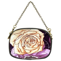 Texture Flower Pattern Fabric Design Chain Purses (one Side)