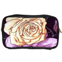 Texture Flower Pattern Fabric Design Toiletries Bags