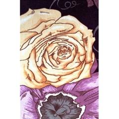 Texture Flower Pattern Fabric Design 5 5  X 8 5  Notebooks