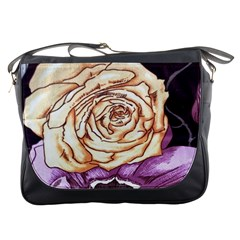 Texture Flower Pattern Fabric Design Messenger Bags