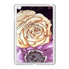Texture Flower Pattern Fabric Design Apple Ipad Mini Case (white) by Nexatart