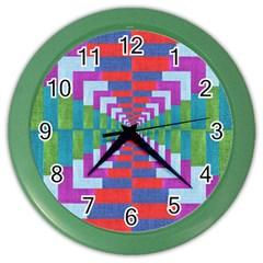 Texture Fabric Textile Jute Maze Color Wall Clocks