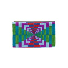 Texture Fabric Textile Jute Maze Cosmetic Bag (small)  by Nexatart