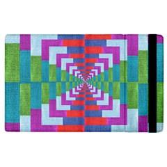 Texture Fabric Textile Jute Maze Apple Ipad 2 Flip Case