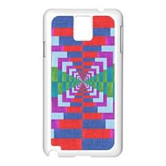 Texture Fabric Textile Jute Maze Samsung Galaxy Note 3 N9005 Case (white)