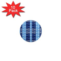 Textile Structure Texture Grid 1  Mini Magnet (10 pack)  by Nexatart