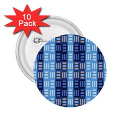 Textile Structure Texture Grid 2 25  Buttons (10 Pack)  by Nexatart