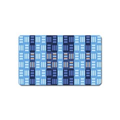 Textile Structure Texture Grid Magnet (name Card) by Nexatart