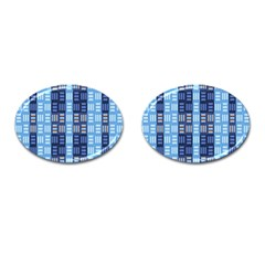 Textile Structure Texture Grid Cufflinks (oval) by Nexatart