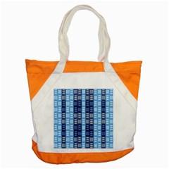 Textile Structure Texture Grid Accent Tote Bag