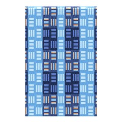 Textile Structure Texture Grid Shower Curtain 48  X 72  (small)