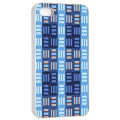 Textile Structure Texture Grid Apple Iphone 4/4s Seamless Case (white)