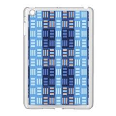 Textile Structure Texture Grid Apple Ipad Mini Case (white)