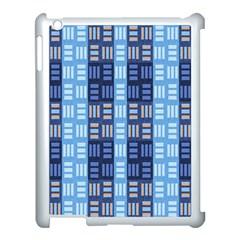 Textile Structure Texture Grid Apple Ipad 3/4 Case (white) by Nexatart