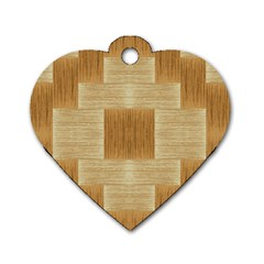 Texture Surface Beige Brown Tan Dog Tag Heart (two Sides)