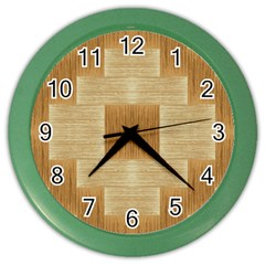 Texture Surface Beige Brown Tan Color Wall Clocks by Nexatart