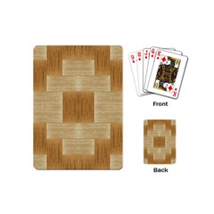 Texture Surface Beige Brown Tan Playing Cards (mini)