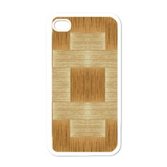 Texture Surface Beige Brown Tan Apple Iphone 4 Case (white)