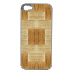 Texture Surface Beige Brown Tan Apple Iphone 5 Case (silver) by Nexatart