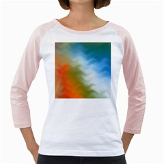 Texture Glass Colors Rainbow Girly Raglans by Nexatart