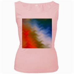 Texture Glass Colors Rainbow Women s Pink Tank Top