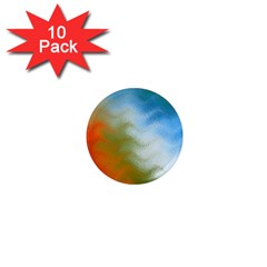 Texture Glass Colors Rainbow 1  Mini Magnet (10 Pack)  by Nexatart