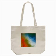 Texture Glass Colors Rainbow Tote Bag (cream)