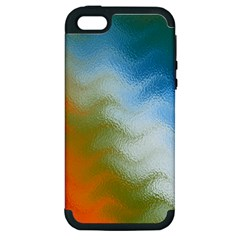 Texture Glass Colors Rainbow Apple Iphone 5 Hardshell Case (pc+silicone)