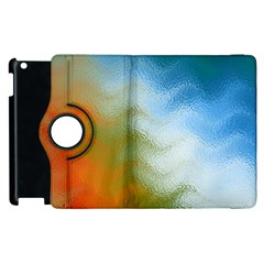 Texture Glass Colors Rainbow Apple Ipad 2 Flip 360 Case