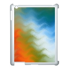 Texture Glass Colors Rainbow Apple Ipad 3/4 Case (white)