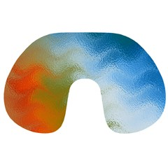 Texture Glass Colors Rainbow Travel Neck Pillows