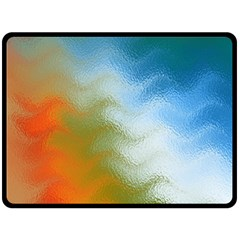 Texture Glass Colors Rainbow Double Sided Fleece Blanket (large)