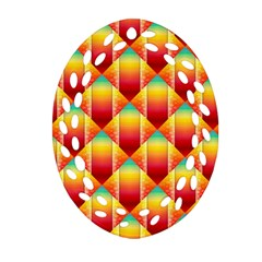 The Colors Of Summer Oval Filigree Ornament (two Sides)