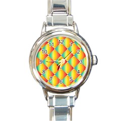 The Colors Of Summer Round Italian Charm Watch by Nexatart