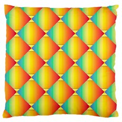 The Colors Of Summer Large Flano Cushion Case (two Sides)