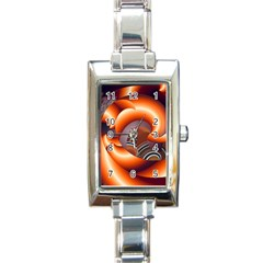 The Touch Digital Art Rectangle Italian Charm Watch by Nexatart